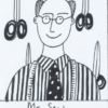 Drawing of Mr Sew the tailor