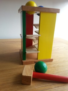 Ideas for playing with a child with autistic spectrum disorder (ASD) - photo of hammer and ball game