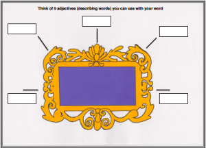 Word frames for learning vocabulary - Adjective Frame