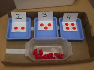 TEACHH tray numeracy