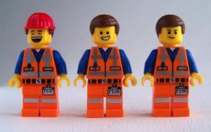3 Lego men